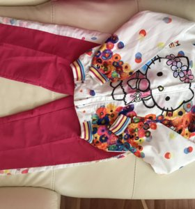 Комплект для девочки (ветровка, штаны) размер 128