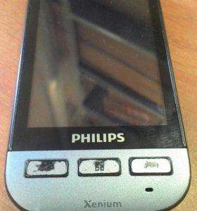 Сенсорный телефон функциональный филипс х525