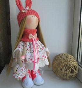 Текстильные куклы ручной работы.