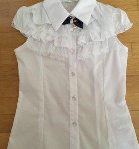 Блуза школьная 7 лет рост 122-128 см. Новая