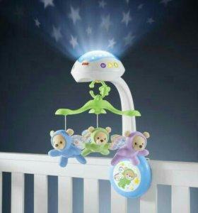 Детский мобиль на кроватку Fisher Price.