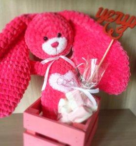 Вязанные игрушки/сладкий набор для ребенка/ящичек