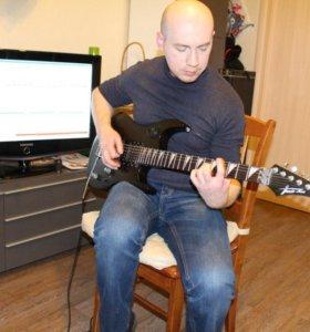 Обучение на электрогитаре, на акустической гитаре