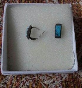Серьги серебренные с бирюзой