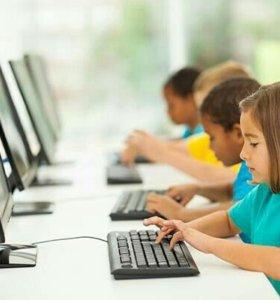Компьютер с монитором для школьников или офиса