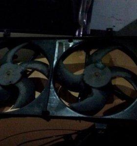 Вентилятор охлаждения Ниссан Примера Р12