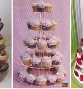 Этажерка. Подставка для торта или кексиков
