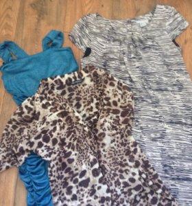 Комплект, 2 платья и блуза