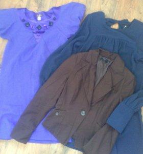 Комплект, 2 платья и пиджак