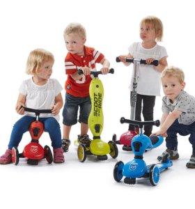 Детский самокат-беговел Scoot&Ride HighwayKick 1