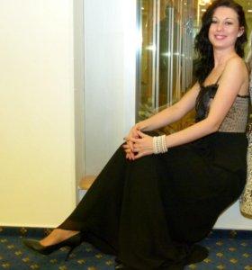Платье вечернее с бантом
