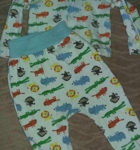 Пижамка на малыша 6-12 месяцев