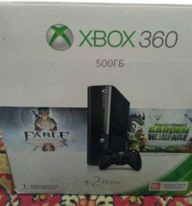 Xbox 360 + 5 игр, 500 гб.