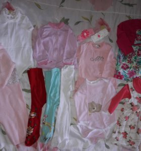 Одежда пакетом на девочку 74-80