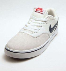 Белые Кеды Nike( натуральная замша)