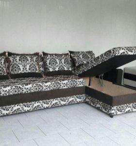 Угловые диваны с ящиком