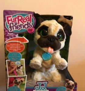 Fur real friends собака мопс не лает