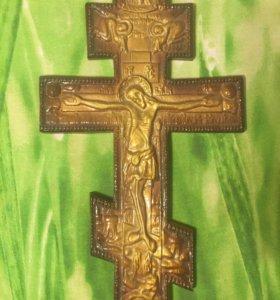 Крест, белая глина, ручная работа