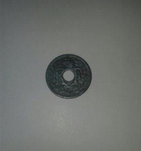 Монета. Франция. 1941 год.