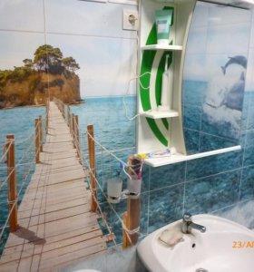Отделку ванных комнат, балконов и других помещений