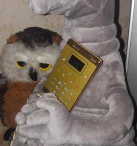 Телефон-кредитка (под золото)