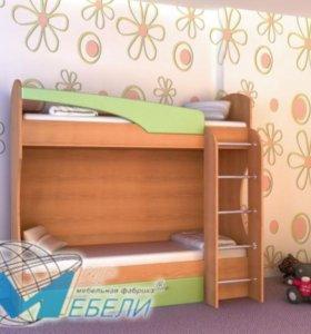 кровать двухярусная + шкаф /детские/