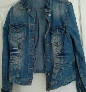 Куртка джинс,46 (48),стрейч