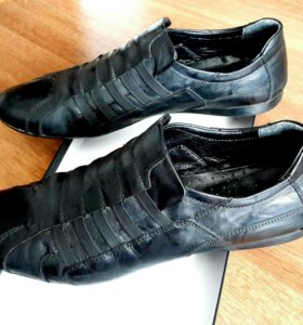 Туфли кожаные летние, 44.