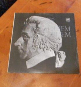 Диск виниловый, «МЕЛОДИЯ» В.А. Моцарт РЕКВИЕМ 1969