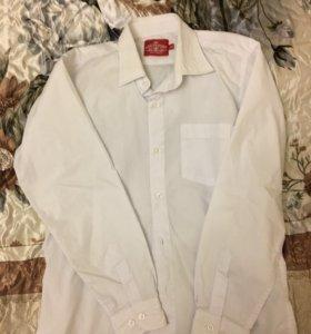 Рубашка школьная белая длинный рукав 146 размер