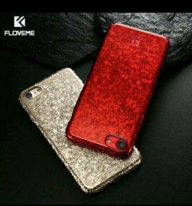 Чехол разбитое стекло iphone 7