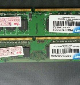 Модуль памяти 1Gb.для компьютера PC-2 6400  .