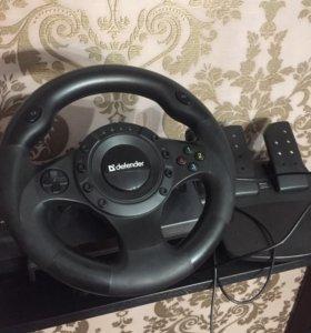 Руль игровой Defender Forsage Drift GT