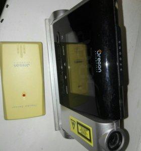 Проекционные часы с термометром