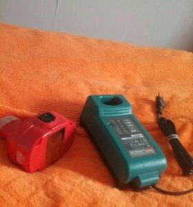 Зарядное устройство новое+батарейка.