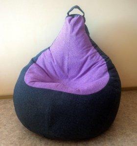 Кресло-груша из велюра