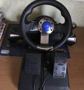 Игровая приставка гоночный руль
