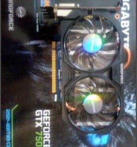 Продам видеокарту Gigabyte Gforce GTX 750 TI