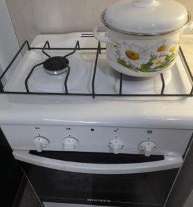 Плита газовая 2-х комфорочная с электро духовкой