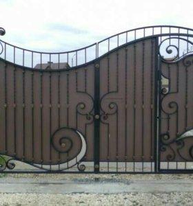 Кованые ворота артикул 37
