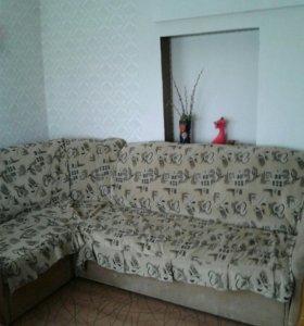 Накидка на угловой диван и кресло