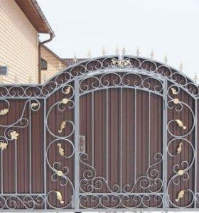 Кованые ворота артикул 17