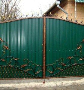 Кованые ворота артикул 15