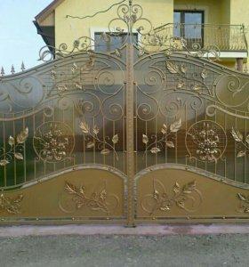 Кованые ворота артикул 14
