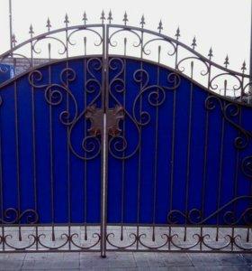 Кованые ворота артикул 10