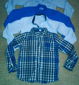 Школьные рубашки на 10-12 лет