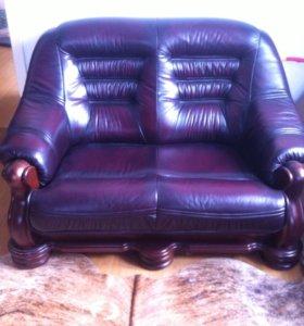 Кожаный диван (кожа натуральная)