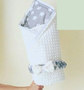 Двустороннее одеялко-конверт ручной работы
