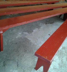 Скамейки деревянные 2,5 метровые