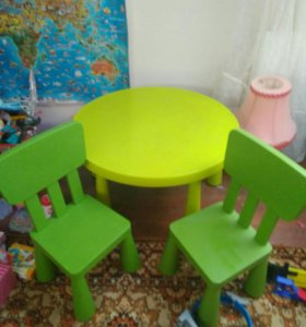 Стол и два стула икеа